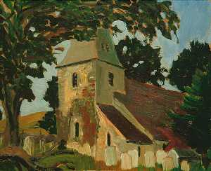 Eric Trayler Cook - Rodmell Church, East Sussex