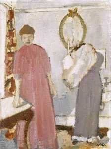 Geoffrey Arthur Tibble - Two Figures in a Boudoir