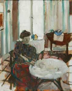 Geoffrey Arthur Tibble - Woman at a Table