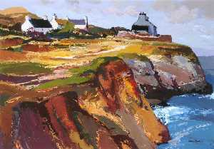 Donald Mcintyre - Cottages on the Cliff