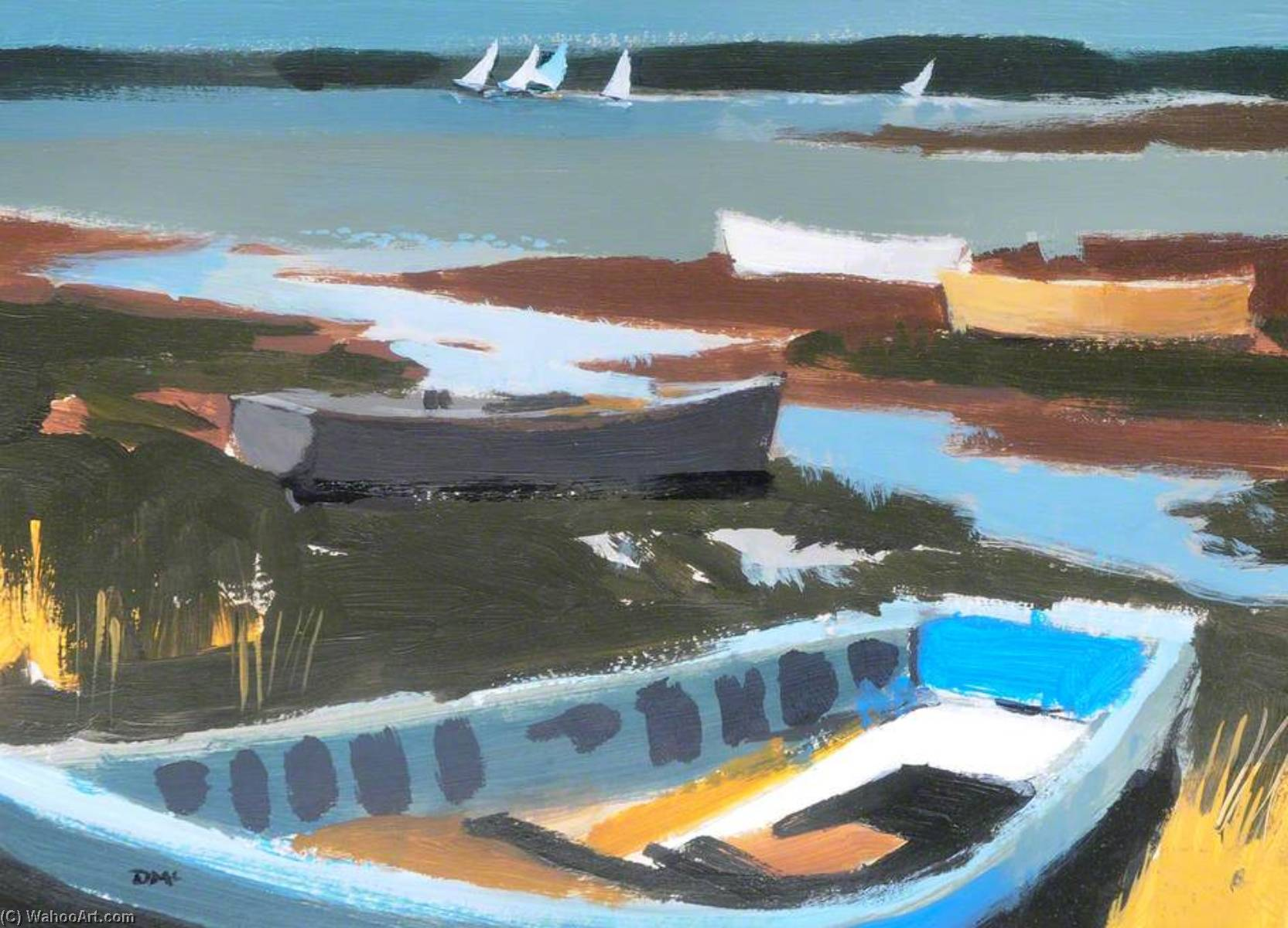 Buy Museum Art Reproductions | The Estuary by Donald Mcintyre | WahooArt.com