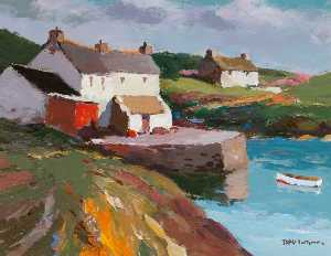 Donald Mcintyre - Cottages and Jetty