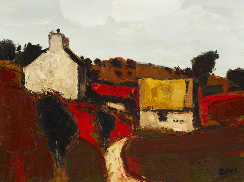 Order Paintings Reproductions | Cottage Anglesey by Donald Mcintyre | WahooArt.com
