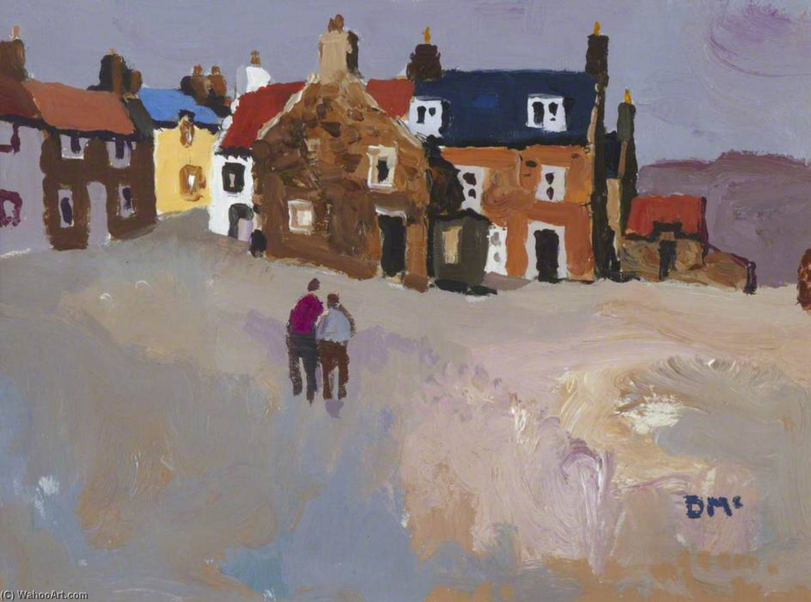 Order Art Reproductions | By the Harbour, Crail by Donald Mcintyre | WahooArt.com