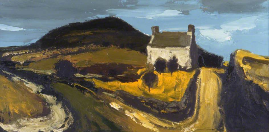 Cottage above Deiniolen by Donald Mcintyre | Museum Art Reproductions Donald Mcintyre | WahooArt.com