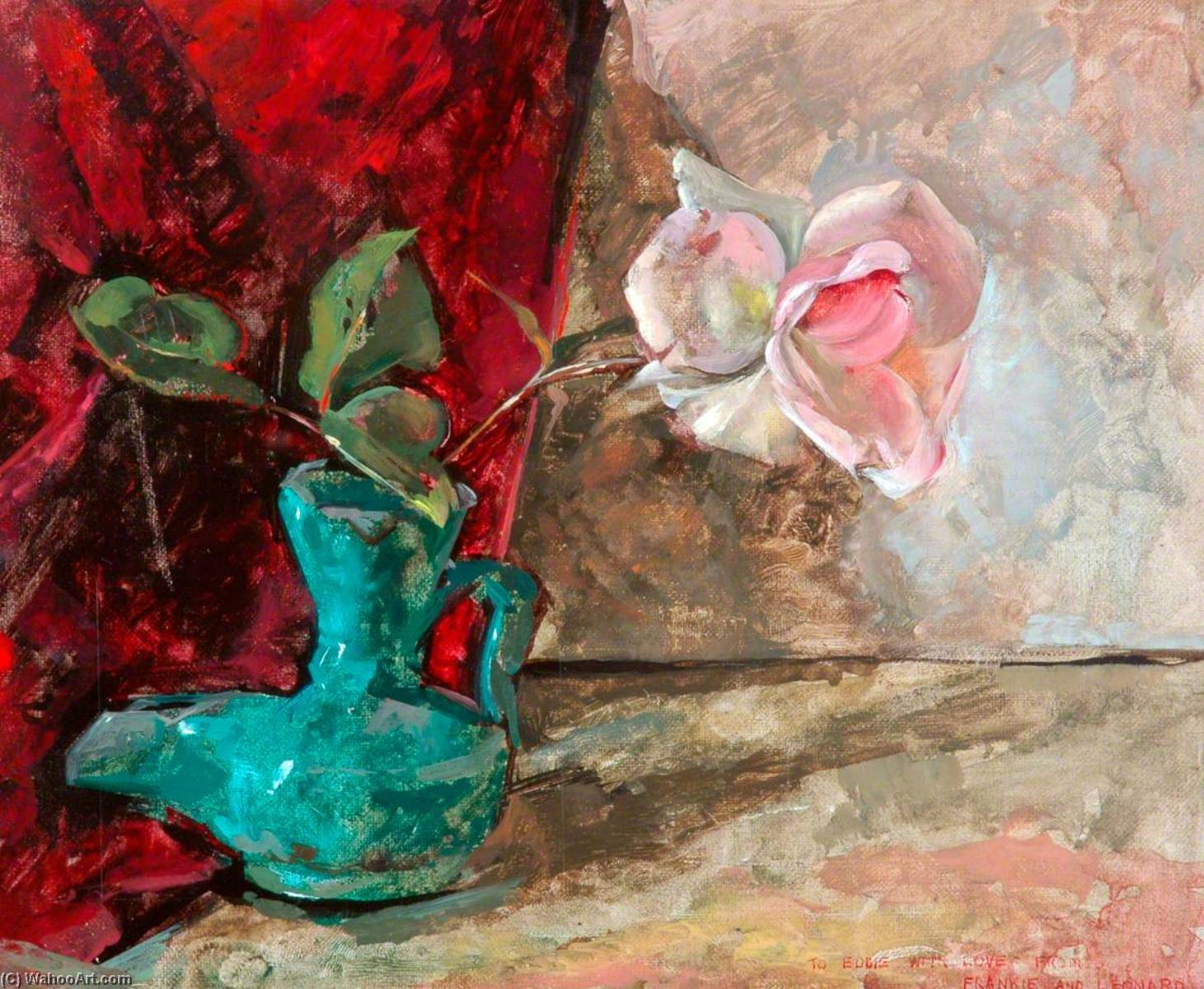 Flower Piece, Oil On Canvas by Leonard Appelbee