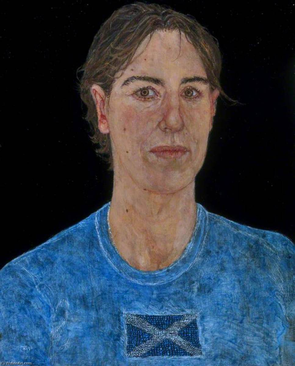 Kirsty Wark (b.1955), Broadcaster, Oil by Jennifer Mcrae