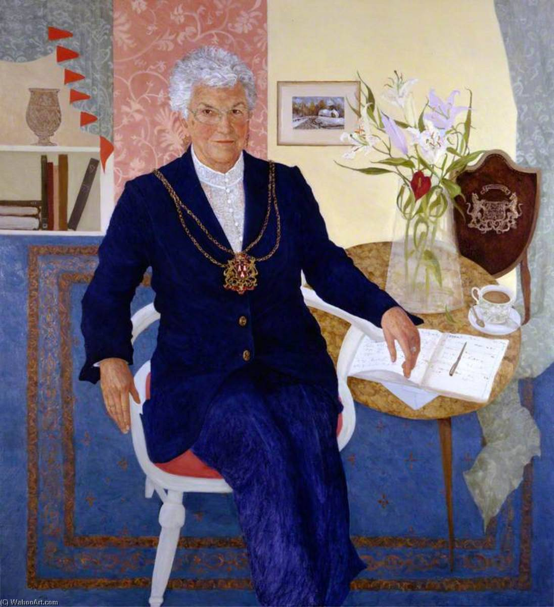 Margaret Smith, Lord Provost of Aberdeen, Oil On Canvas by Jennifer Mcrae