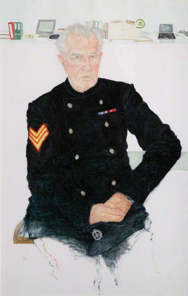 Chelsea Pensioners John Carbis, Formerly Warrant Officer Class 2, Royal Engineers, Oil On Canvas by Jennifer Mcrae