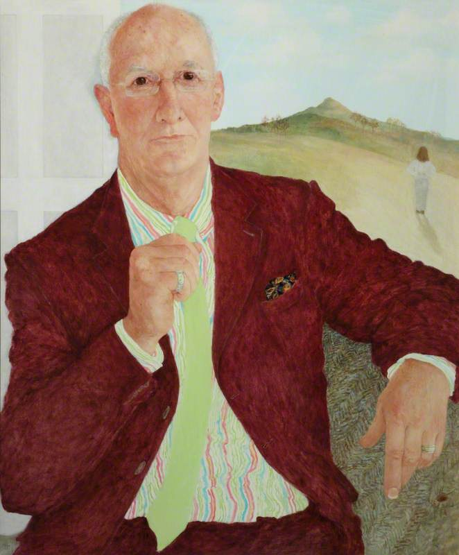 Dr Mike Shooter, President of the Royal College of Psychiatrists (2002–2005), Oil by Jennifer Mcrae