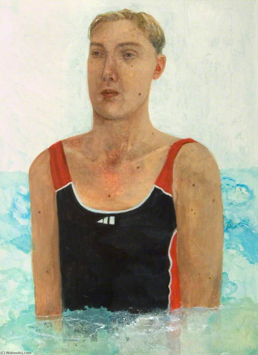 The Swimmer, Watercolour by Jennifer Mcrae