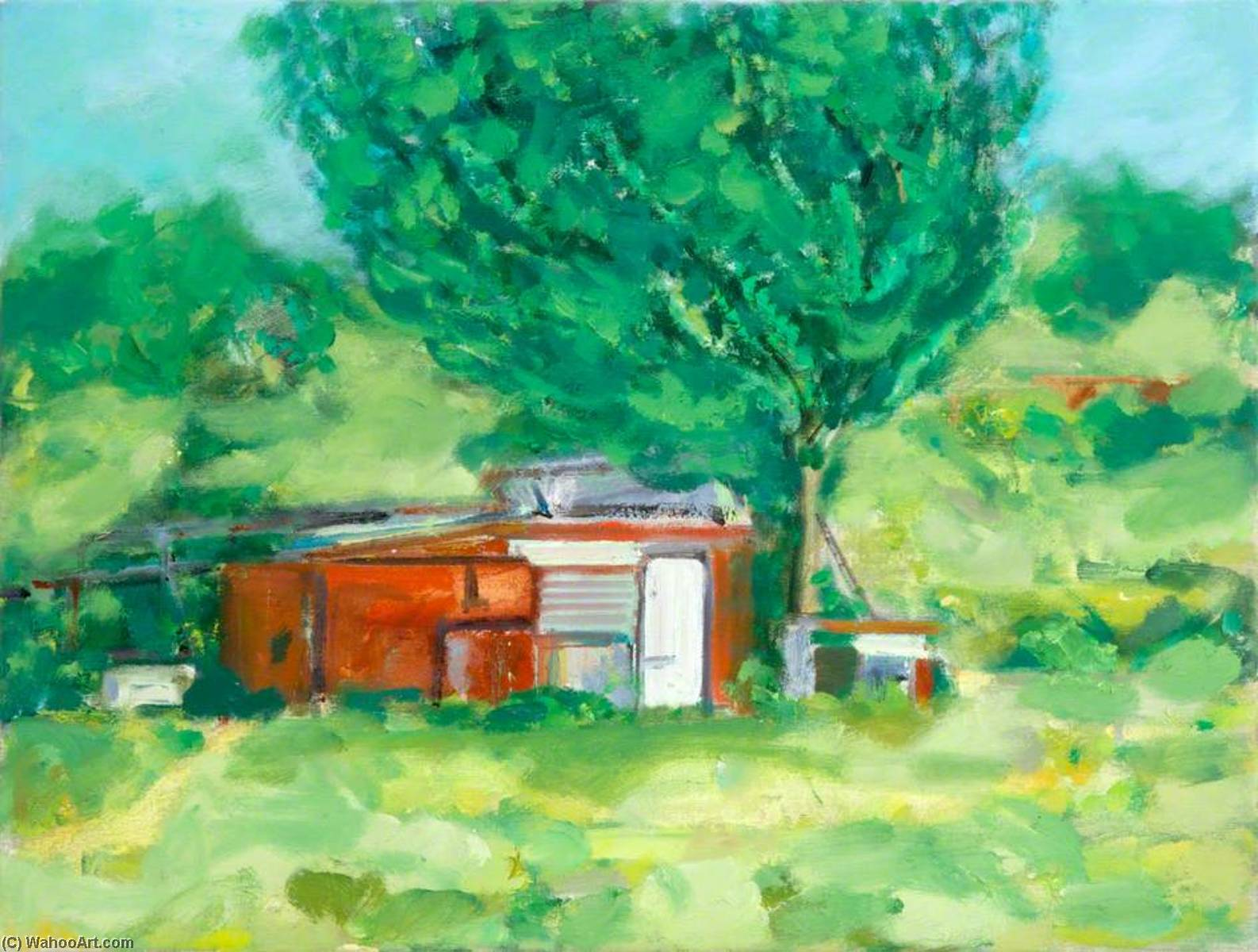 Allotment Shed, Oil On Canvas by Clement Mcaleer