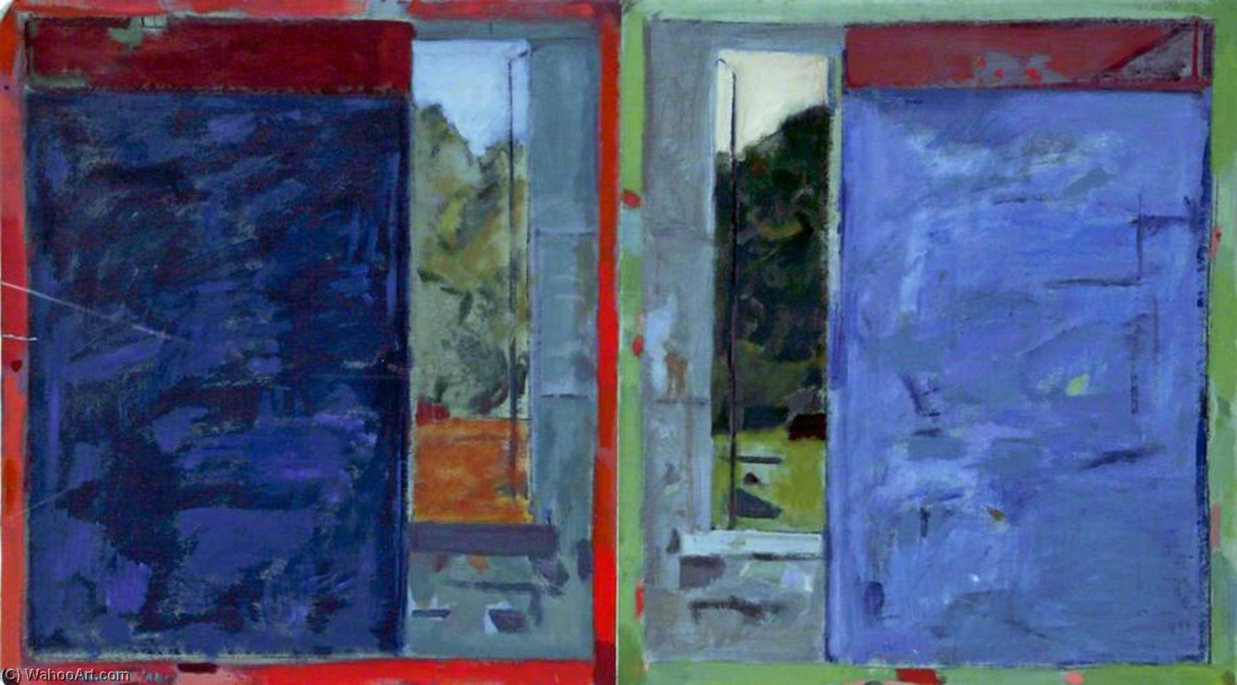 Mirror Diptych II, Oil by Clement Mcaleer