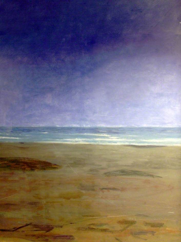 Beach (polyptych, panel 2 of 6), Oil by Clement Mcaleer