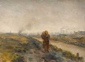 Edwin Butler Bayliss - Mother and Child, Black Country Landscape