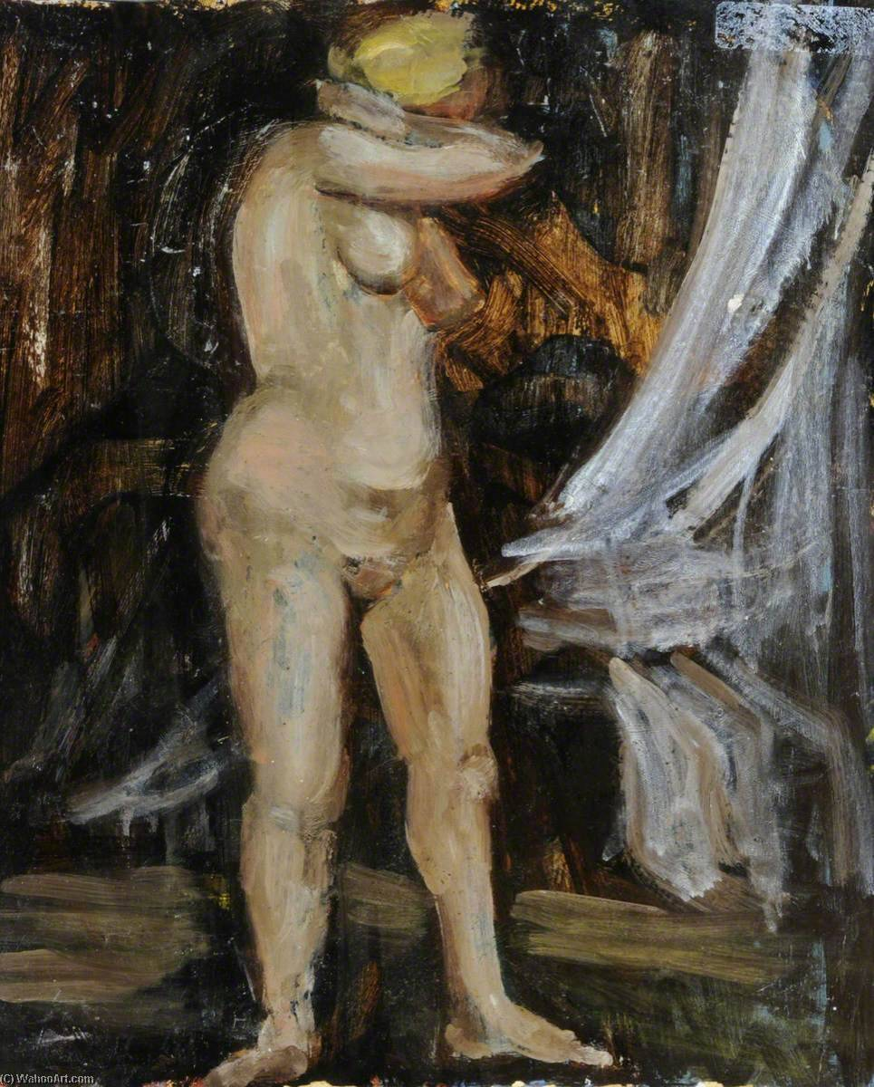 Nude (recto), Oil by Rosamund Ross