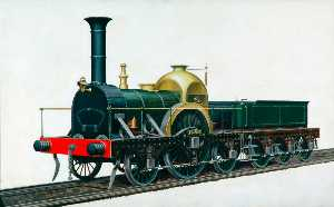 Henry Maurice Whitcombe - Great Western Railway Firefly Class 2–2–2 Locomotive 'Ixion'