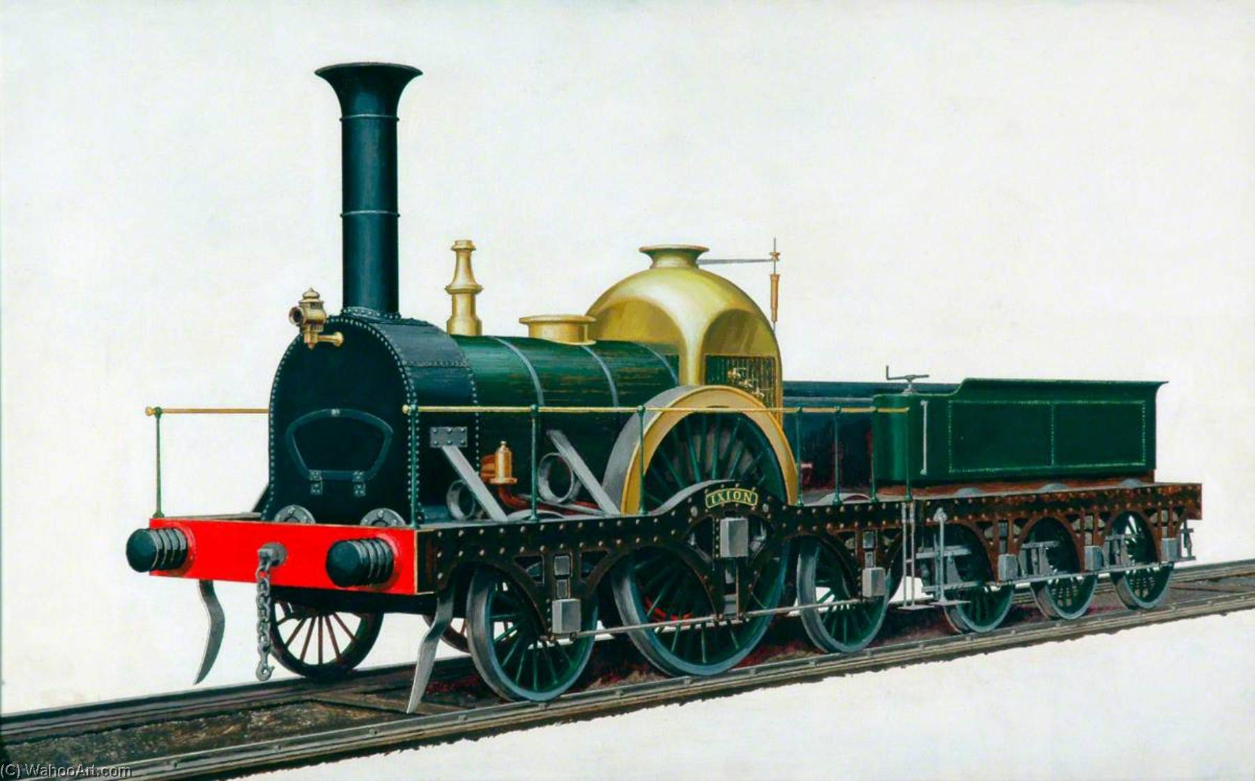 Great Western Railway Firefly Class 2–2–2 Locomotive 'Ixion', Oil by Henry Maurice Whitcombe