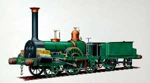 Henry Maurice Whitcombe - Grand Junction Railway 2–2–2 Locomotive 'Tamerlane'