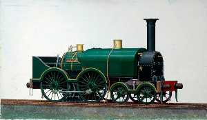 Henry Maurice Whitcombe - Great Western Railway 4–4–0 Saddletank Locomotive 'Corsair'