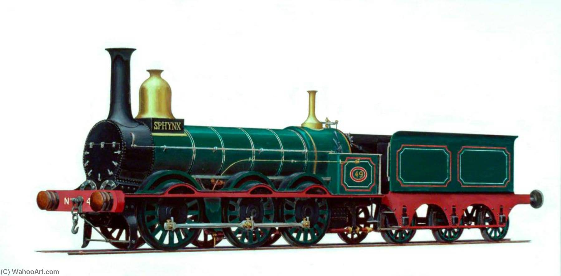 Manchester, Sheffield and Lincolnshire Railway 0–6–0 Goods Engine No.49 'Sphynx' by Henry Maurice Whitcombe | WahooArt.com