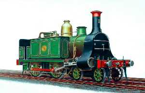 Henry Maurice Whitcombe - North London Railway 4–4–0T Locomotive No.1
