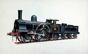 Henry Maurice Whitcombe - London and North Western Railway 2–2–2 Locomotive 'Princess Royal'