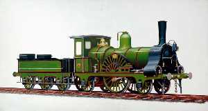 Henry Maurice Whitcombe - Great Eastern Railway 2–2–2 Locomotive No.52