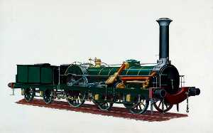 Henry Maurice Whitcombe - Northern Railway of France 4–2–0 Locomotive No.122