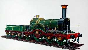 Henry Maurice Whitcombe - Great Western Railway 4–2–2 Locomotive 'Iron Duke'