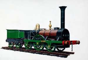 Henry Maurice Whitcombe - 2–2–2 Locomotive 'Patentee', Robert Stephenson's Patent Locomotive