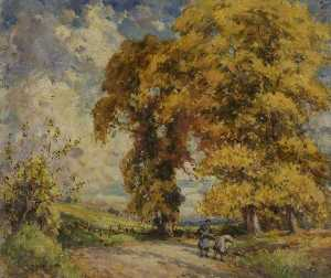 Gertrude Crompton - Autumn in the Cotswolds