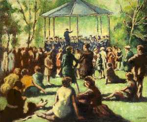 William Conor - Music in the Park (Botanic Gardens, Belfast)