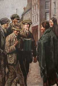 William Conor - The Melodeon Player
