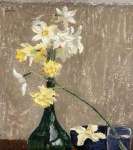 William Conor - Daffodils