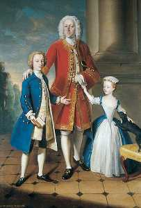 Philippe Mercier - Colonel Charles Ingram with His Children