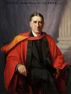 Ernest Moore - Sir Arthur John Hall (1866–1951), KT, MD, DSc, FRCP, Professor of Physiology, Pathology and Medicine and Physician at the Royal Hospital