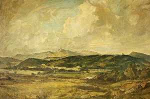 Oliver Hall - Looking across the Lake District Mountains from Birkrigg
