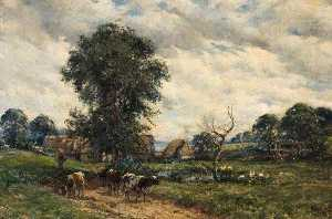 William Mark Fisher - Landscape with Cattle