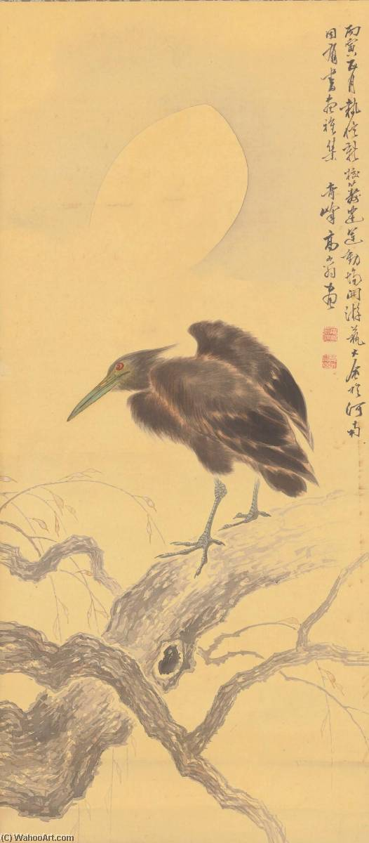 BIRD ON A WITHERED BRANCH, Ink by Gao Qifeng
