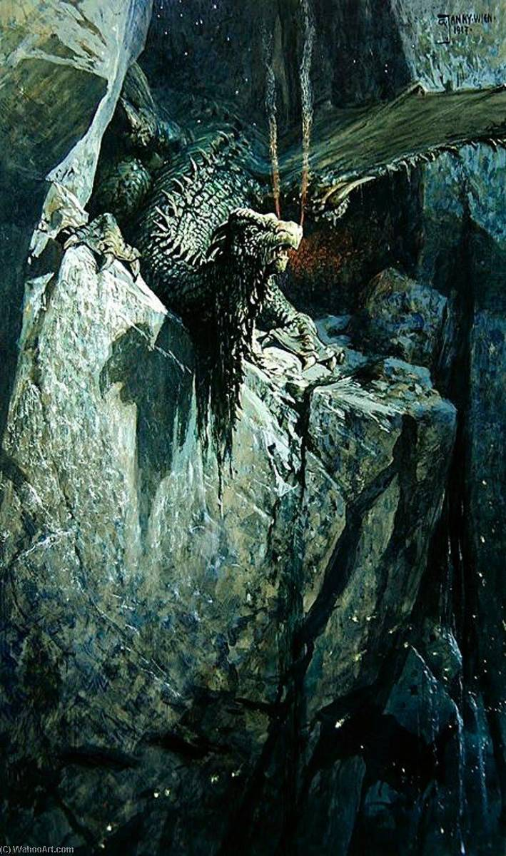 The Dragon's Cave, Oil On Canvas by Georg Janny