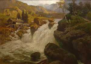 Georg Janny - Mill at a River