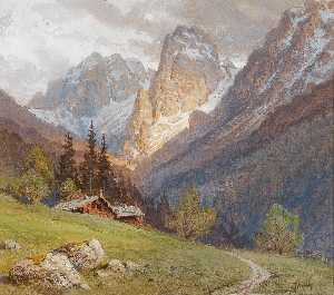 Georg Janny - The Mountain in Kufstein