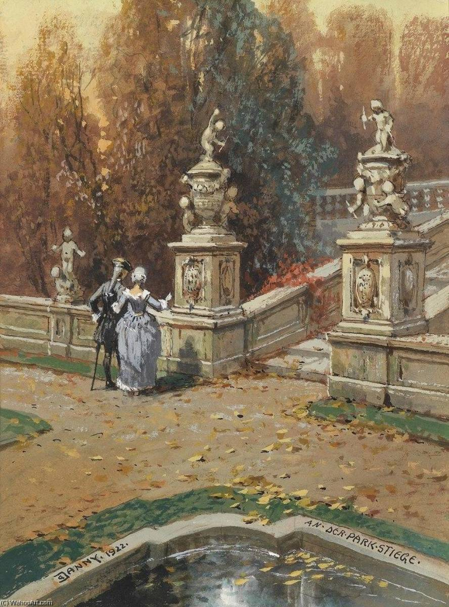 In the Park, Watercolour by Georg Janny