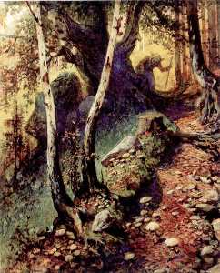 Georg Janny - Hunting Mushrooms in the Old Forest