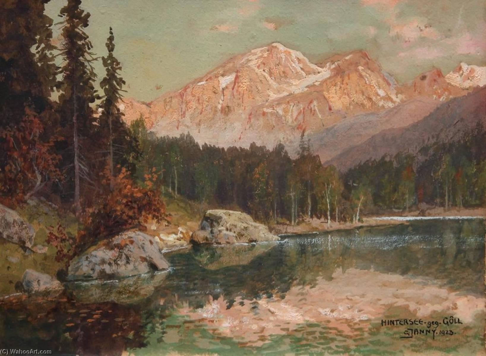 Hintersee, Watercolour by Georg Janny