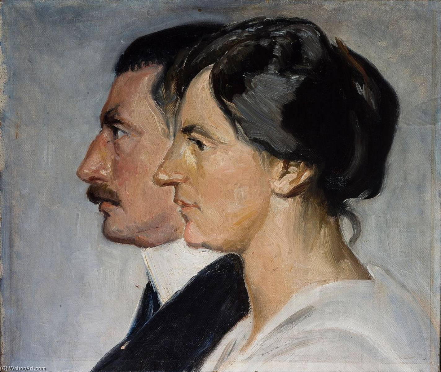 King Christian X and Queen Alexandrine of Denmark, 1915 by Michael Peter Ancher (1849-1927) | Painting Copy | WahooArt.com