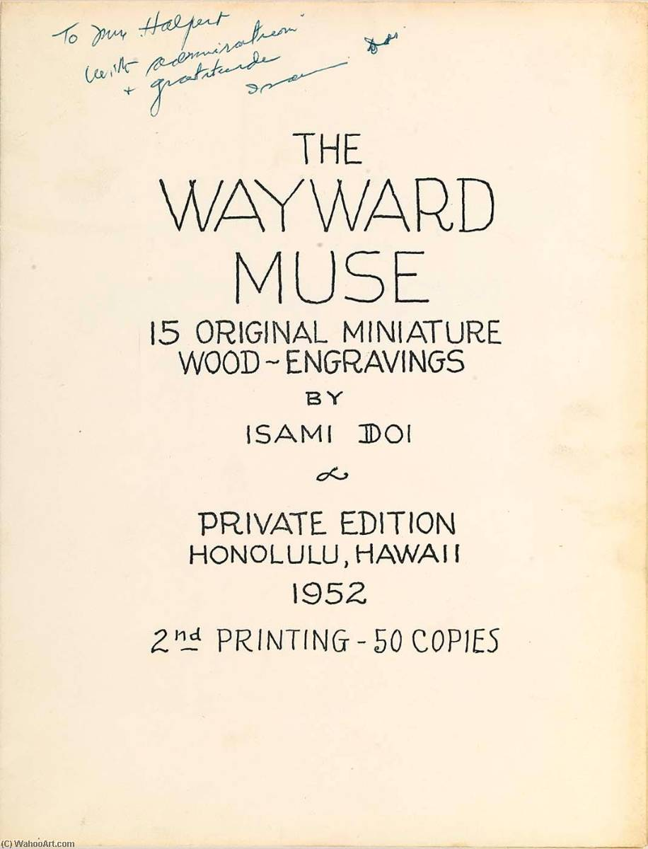 (The Wayward Muse, portfolio) Frontispiece, 1952 by Isami Doi | Oil Painting | WahooArt.com