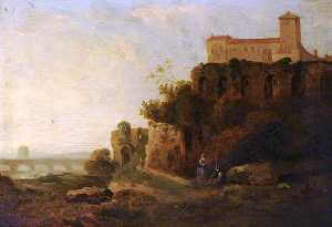 David Cox The Elder - Fortress on a Rock