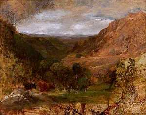 David Cox The Elder - Landscape (unfinished)